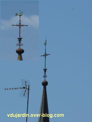 Poitiers, des girouettes, 07, la girouette de la chapelle des Jésuites rue Grimaud