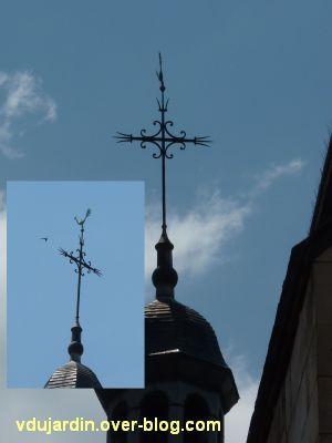 Poitiers, des girouettes, 14, le coq de la chapelle Saint-Louis au collège Henri IV