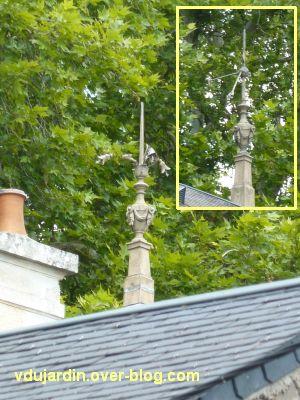 Poitiers, des girouettes, 21, des paratonnerres sur une villa boulevard Bajon