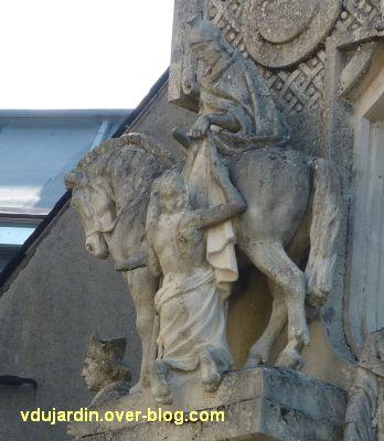 Tours, la charité de saint Martin par Varenne, 5, détail de la charité