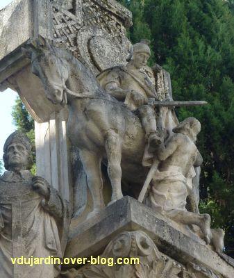 Tours, la charité de saint Martin par Varenne, 6, la Charité, le soldat et l'infirme avec béquille