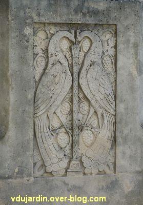 Tours, la charité de saint Martin par Varenne, 9, les deux paons affrontés