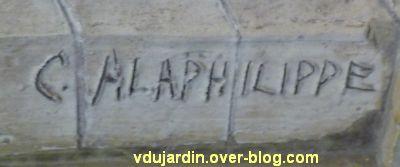 Tours, dans la basilique, la messe de St Martin par Alaphilippe, 03, signature C. ALAPHILIPPE