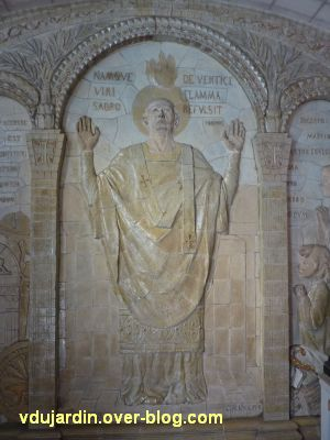 Tours, dans la basilique, la messe de St Martin par Alaphilippe, 07, Martin priant