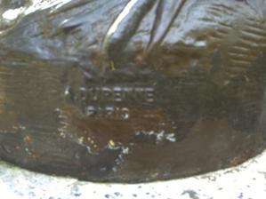 L'amour sur un griffon de Durenne, signature