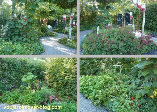 Chaumont-sur-Loire, festival des jardins 2011, quatre vues du jardin 11 en automne (30 septembre)