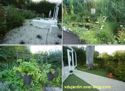 Chaumont-sur-Loire, festival des jardins 2011, quatre vues du jardin 13 en automne (30 septembre)