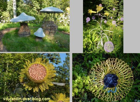 Chaumont-sur-Loire, festival 2011, le jardin 2, quatre vues au début de l'automne (30 septembre)