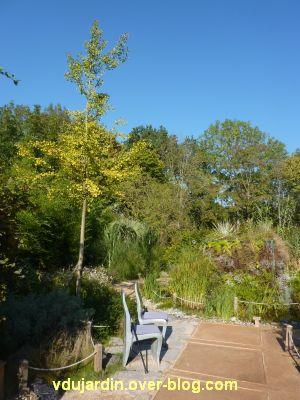 Chaumont-sur-Loire, festival des jardins 2011, le jardin 8 en automne (30 septembre)