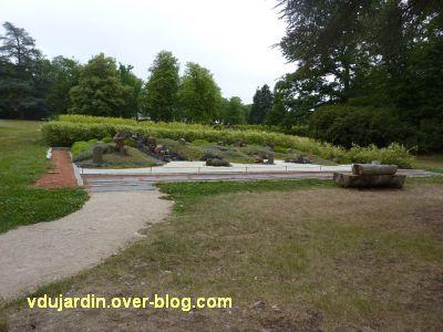 Chaumont-sur-Loire, jardin zen de Borja,1, de loin