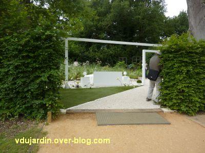 Chaumont-sur-Loire, festival 2011, le jardin n° 13, 1, l'entrée