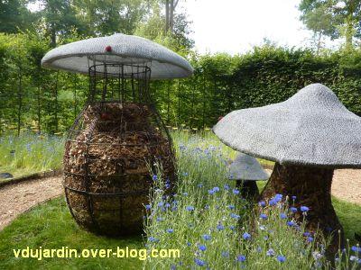 Chaumont-sur-Loire, festival 2011, le jardin 2, 2, les champicomposteurs
