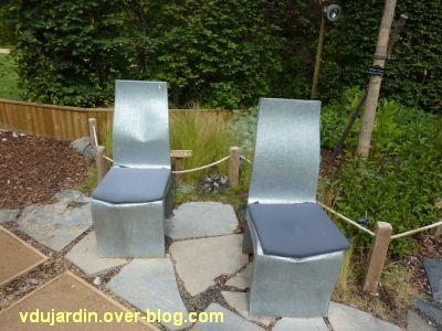 Chaumont-sur-Loire, festival 2011, le jardin n° 8, 7, les chaises