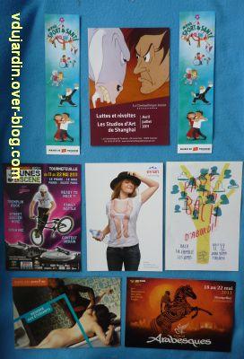 Juillet 2011, envoi de Cathdragon, 2, des cartes à publicité