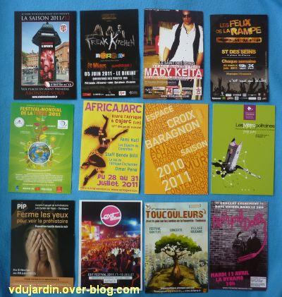 Juillet 2011, envoi de Cathdragon, 3, des cartes à publicité