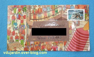 Juillet 2011, envoi de Zazimuth, 1, une belle enveloppe