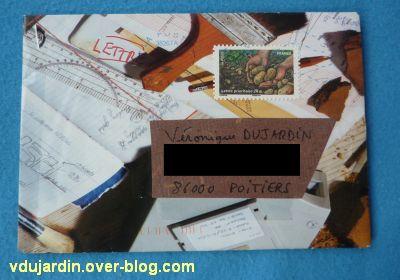 Juillet 2011, envoi de Zazimuth, 3, une belle enveloppe