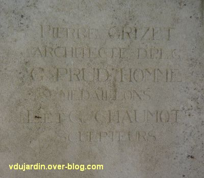 La Rochelle, les pionniers de Côte d'Ivoire, 03, la signature de l'architecte et des artistes