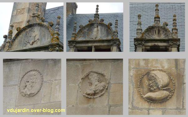 Poitiers, l'hôtel d'Estissac, 3, le décor de l'aile gauche