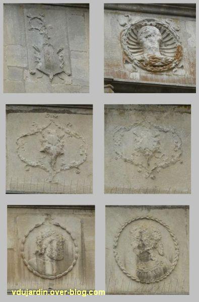 Poitiers, l'hôtel d'Estissac, 4, le décor de l'escalier