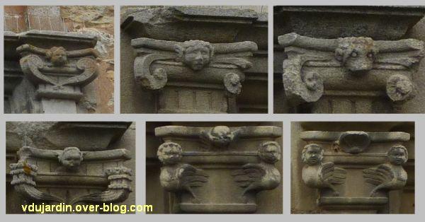 Poitiers, l'hôtel d'Estissac, 8, des chapiteaux