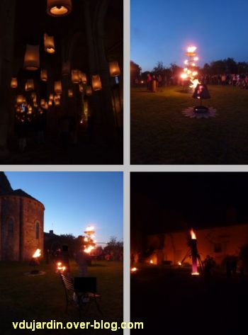 La nuit romane Carabosse à Parthenay le 12 août 2011, quatre vues
