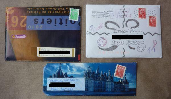 Juillet/août 2011, 1, les enveloppes
