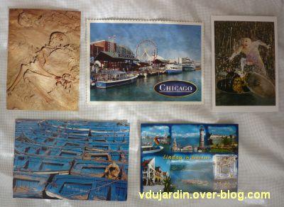 Des cartes reçues en août 2011