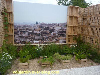 Chaumont-sur-Loire, festival 2011, le jardin 16, 6, des aromatiques en haut de la ville