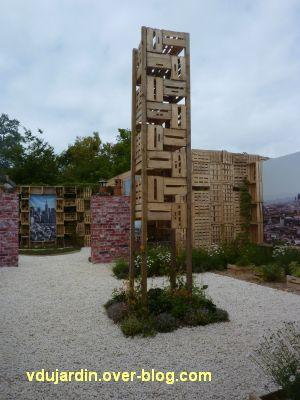 Chaumont-sur-Loire, festival 2011, le jardin 16, 8, une tour en bois