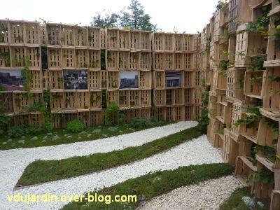 Chaumont-sur-Loire, festival 2011, le jardin 16, 9, le tapis vert
