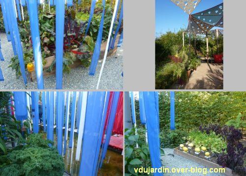 Chaumont-sur-Loire, festival des jardins 2011, quatre vues du jardin 14 en automne (30 septembre)