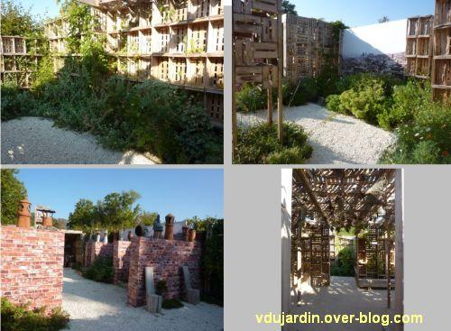 Chaumont-sur-Loire, festival des jardins 2011, quatre vues du jardin 16 en automne (30 septembre)