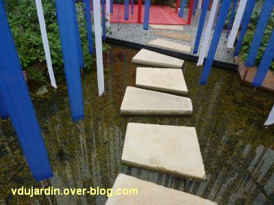 Chaumont-sur-Loire, festival 2011, le jardin 15, 6, des pas japonais
