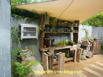 Chaumont-sur-Loire, festival 2011, le jardin 1, 8, le coin laboratoire