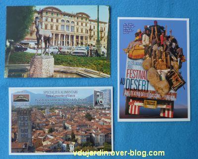 Juillet 2011, cartes reçues de Virjaja