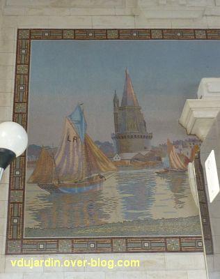 La gare de La Rochelle, 13, la mosaïque avec la tour de la lanterne