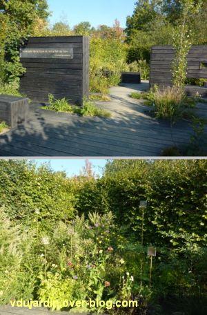 Chaumont-sur-Loire, festival des jardins 2011, deux vues du jardin 22 en automne (30 septembre)
