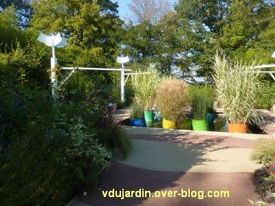 Chaumont-sur-Loire, festival des jardins 2011, le jardin 9 en automne (30 septembre)