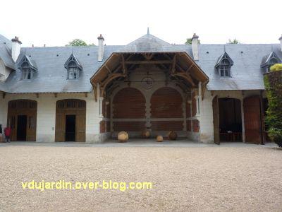 Chaumont-sur-Loire 2011, le parc, Dominique Bailly, 10, les sphères vues de loin