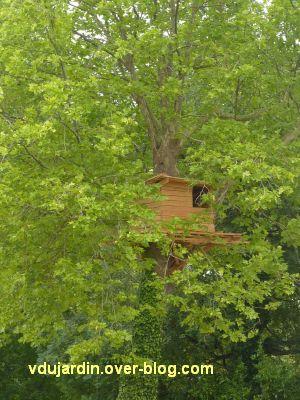 Chaumont-sur-Loire 2011, le parc, Tadashi Kawamata, 5, une cabane dans un arbre