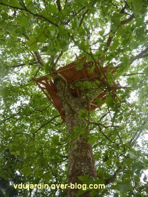 Chaumont-sur-Loire 2011, le parc, Tadashi Kawamata, 6, une cabane dans un arbre