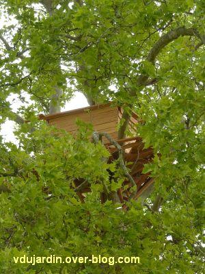 Chaumont-sur-Loire 2011, le parc, Tadashi Kawamata, 8, une cabane dans un arbre