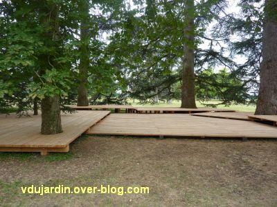 Chaumont-sur-Loire 2011, le parc, Tadashi Kawamata, 10, le plancher vu de près