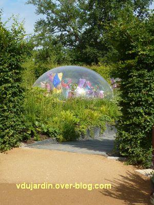 Chaumont-sur-Loire, festival 2011, le jardin 5, 1, une grosse bulle de plastique