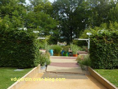 Chaumont-sur-Loire, festival 2011, le jardin 9, 1, vu de l'entrée