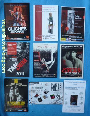 Envoi de Capucine en septembre 2011, des cartes rouges et noires