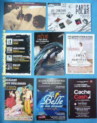 Les envois de mi septembre 2011, 8, envoi de Capucine, cartes en noir et blanc