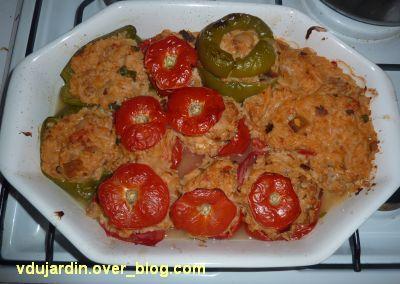 Tomates et poivrons farcis
