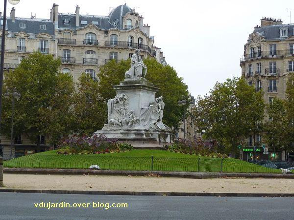 Paris, monument à Pasteur par Falguière, 01, vue générale du monument